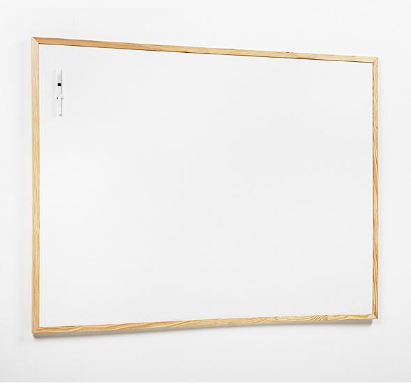 Pizarra blanca con marco de pino - Pizarras Blancas - MaxOffice.es