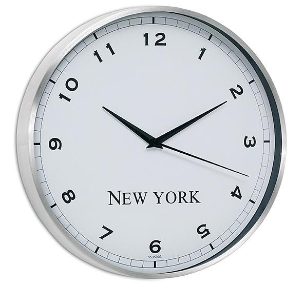 Relojes de pared para la oficina con dise os elegantes - Reloj pintado en la pared ...