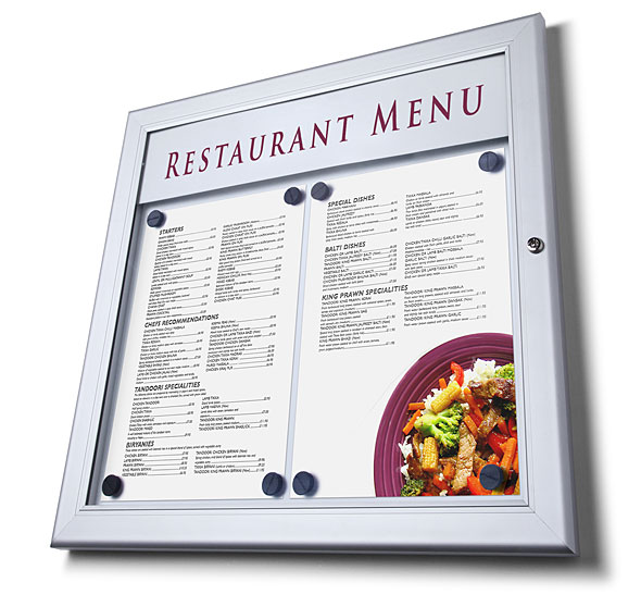 Vitrina de pared para exteriores Menu Case