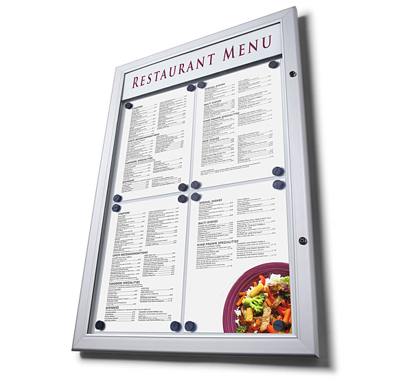 Vitrina para exteriores Menu Case LED