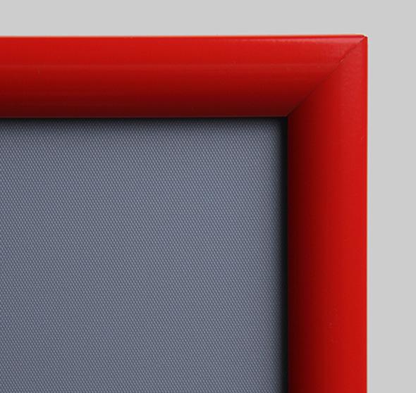 Marco abatible rojo con sistema de clip con perfil de 25 mm - Marcos ...
